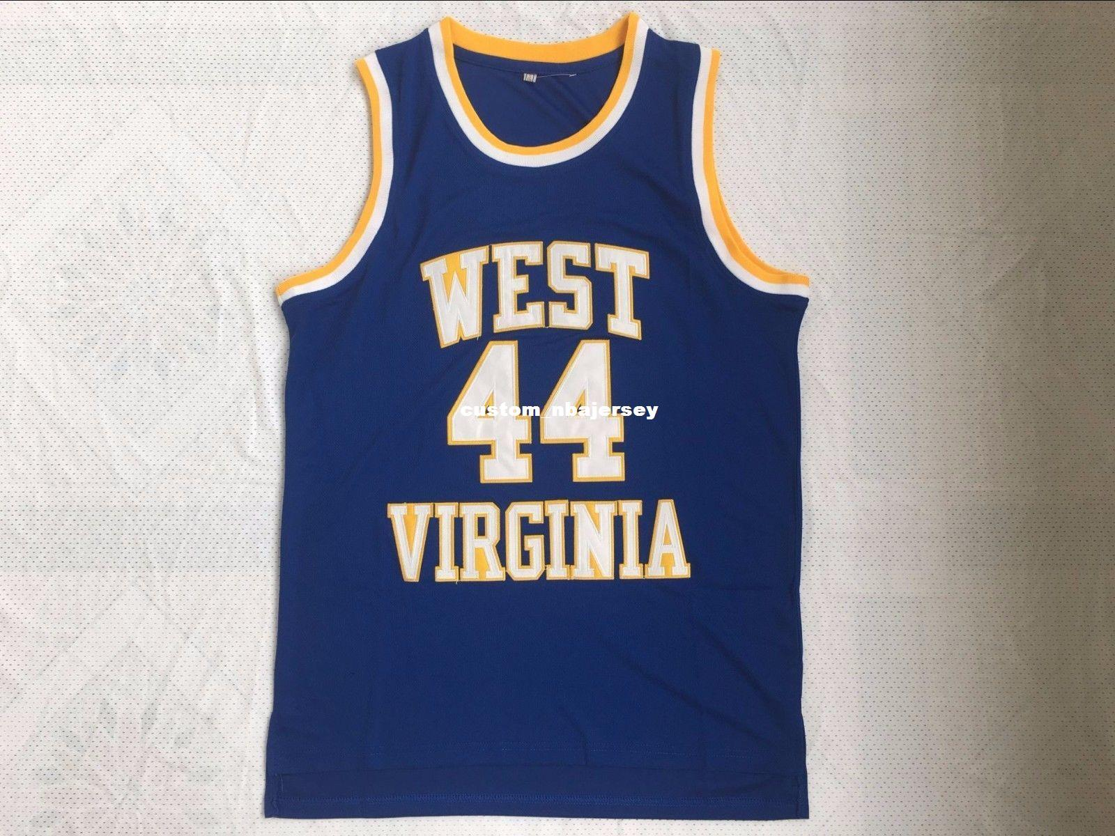 2927233f5c8 2019 Cheap Custom Vintage  44 JERRY WEST VIRGINIA MOUNTAINEERS Basketball  Jerseys Blue Stitched Customize Any Number Name MEN WOMEN YOUTH XS 5XL From  ...