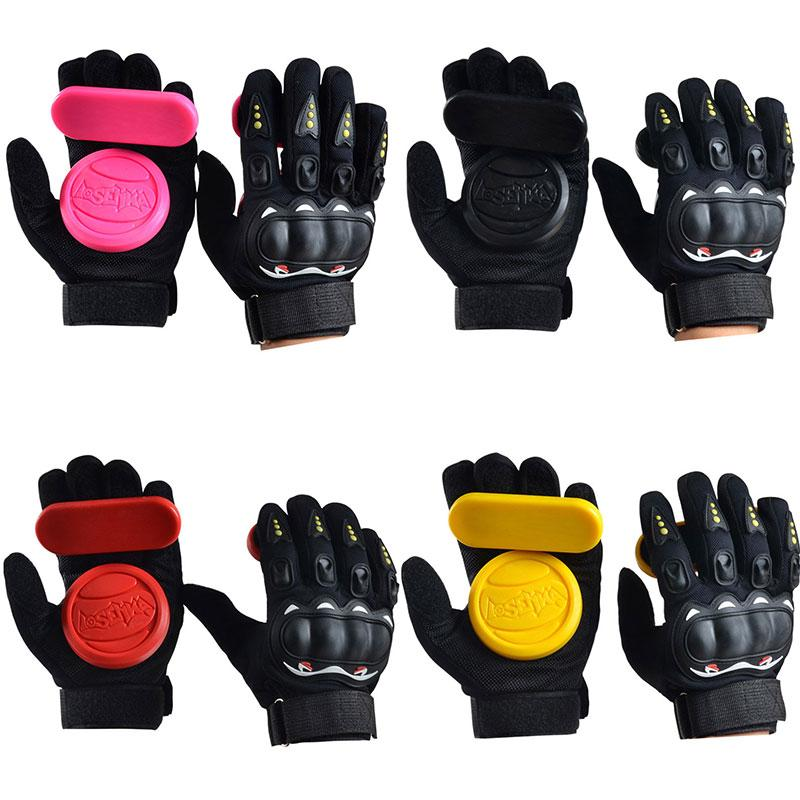 Skateboard Downhill Freeride Slide Sliding Protective Gloves with Palm Sliders