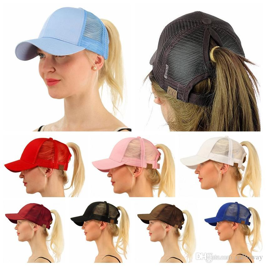 WOMEN CC Ponytail CAP Fashion Girl Basketball Hats Back Hole Pony ... 5ce1d273df8b