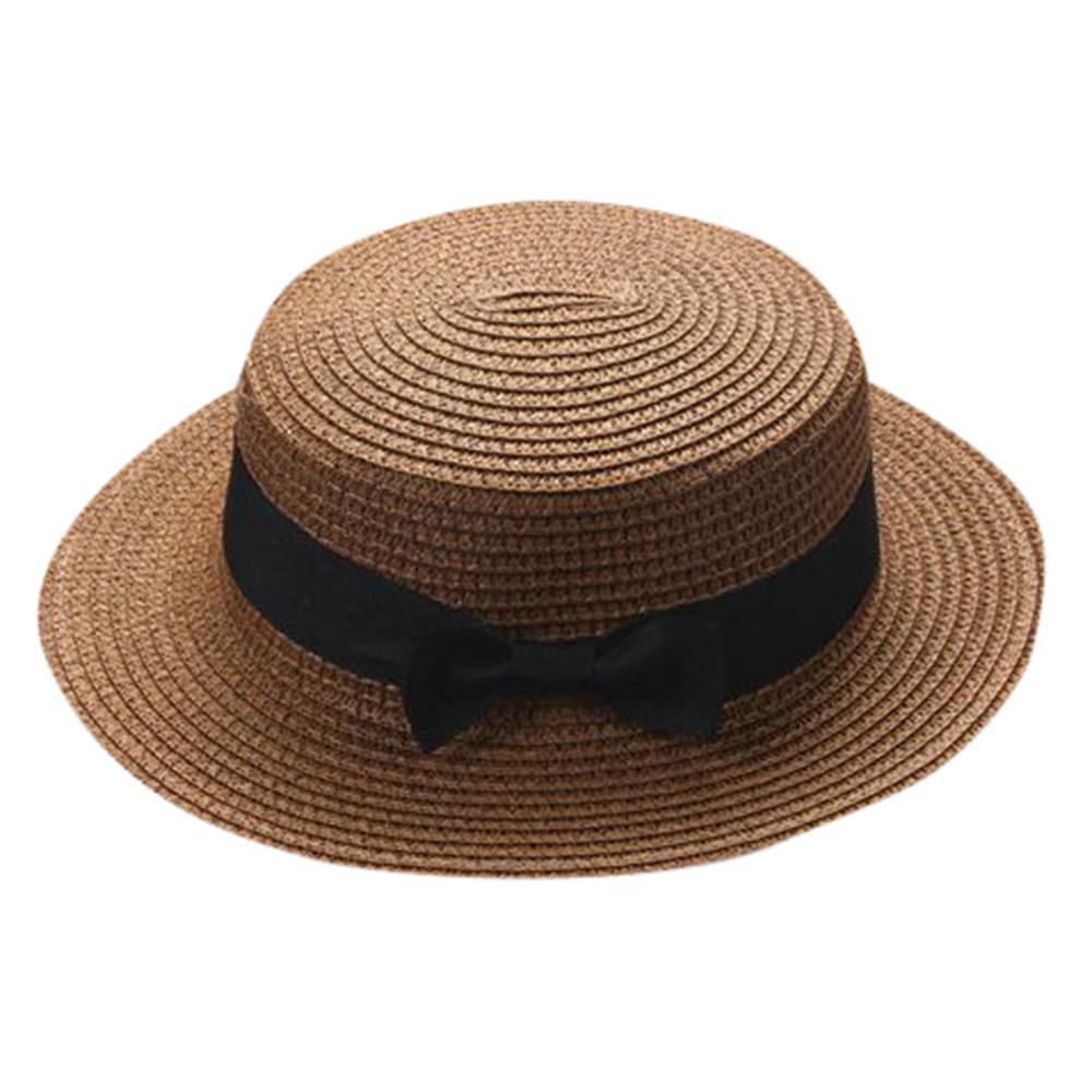 6d0ebadf7477a Fashion Parent Child Sun Hat Cute Children Sun Hats Bow Hand Made Women  Straw Cap Beach Big Brim Hat Casual Glris Summer Cap Funny Hats Hat World  From ...