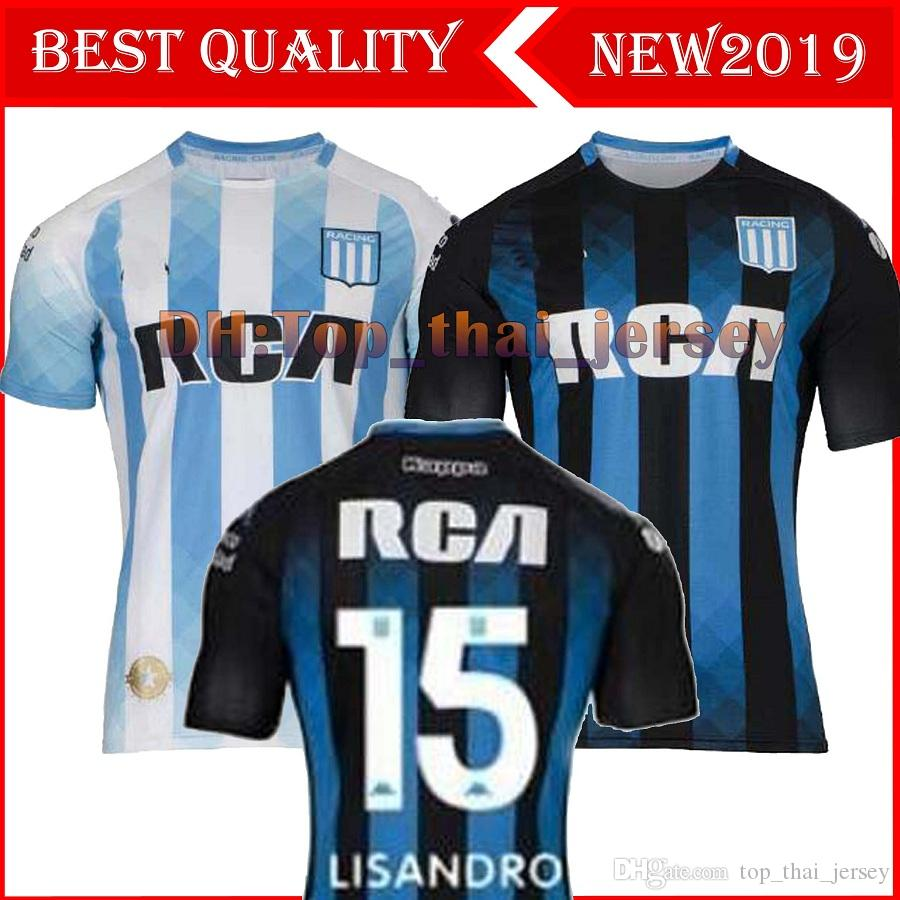 2020 Racing Club de Avellaneda Casa Camisolas de Futebol 19/20 Racing Away # 7 BOU # 8 FERNANDEZ # 10 CENTURION 3º Uniforme de futebol