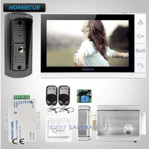 Homsecur 9 Wired Video Door Entry Security Intercom Electric Lock