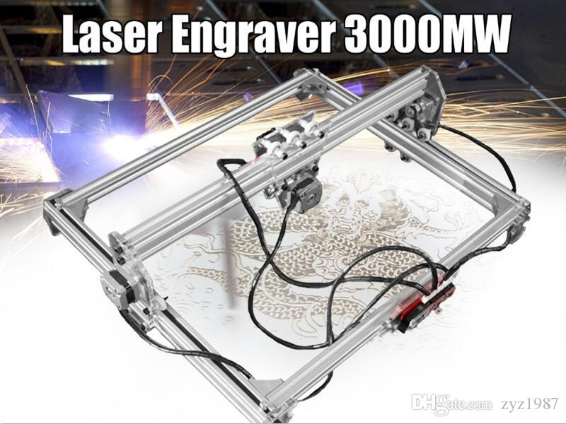 50*65cm Mini 3000MW Blue CNC Laser Engraving Machine 2Axis DC 12V DIY Engraver Desktop Wood Router/Cutter/Printer+ Laser Goggles