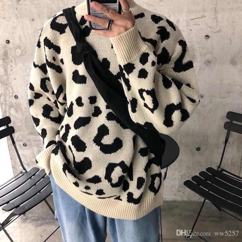 0ce9a10084 New 2018 Sweaters for Men Fashion Long Sleeve Sweaters Autumn Loose ...
