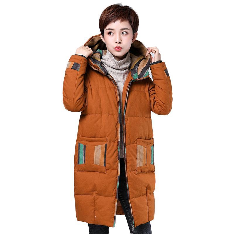 5e48d2780828d Satın Al 2019 Yeni Kış Koleksiyonu Moda Kalın Kadınlar Bahar Pamuk Sıcak  Ceketler Kapşonlu Kadın Parka Mont Artı Boyutu M 4XL Dış Giyim, $203.01    DHgate.