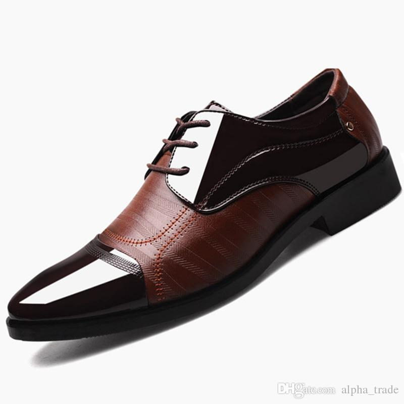8e5b22d7edf8 2019 Formal Shoes Men Pointed Toe Men Dress Shoes Leather Oxford Formal  Shoes For Men Fashion Dress Footwear 38 48 Mens Leather Boots Mens Shoes  Online From ...
