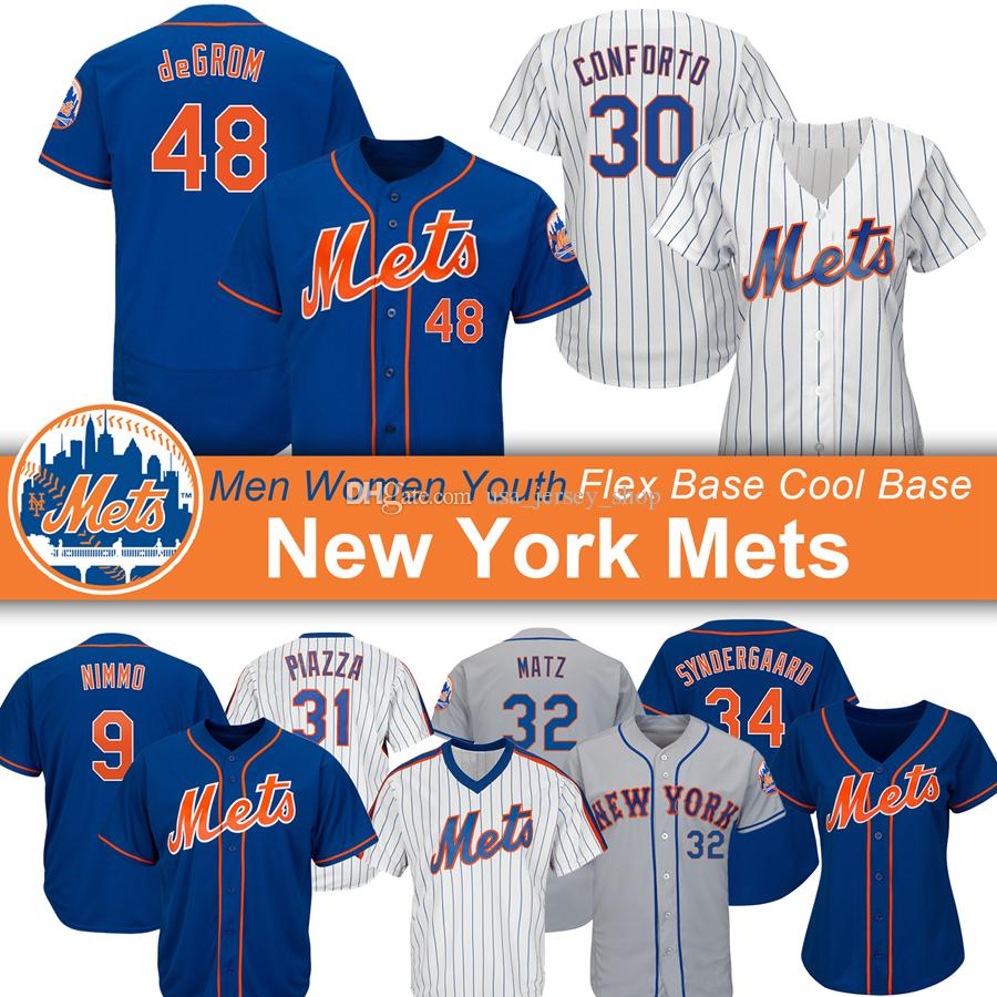 competitive price 4c270 b786e Custom New York Pete Alonso Jersey Mets Noah Syndergaard Jacob deGrom Mike  Piazza Dwight Gooden Darryl Strawberry Baseball Jerseys