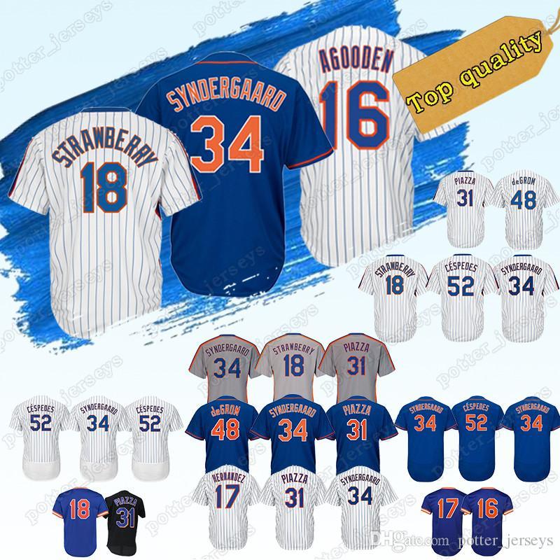 6b9a2377240 2019 New York Jersey Mets Baseball Jerseys 18 Darryl Strawberry 16 Dwight  Gooden 34 Noah 17 Keith Hernandez 52 Yoenis Cespedes Promotion From  Potter jerseys ...