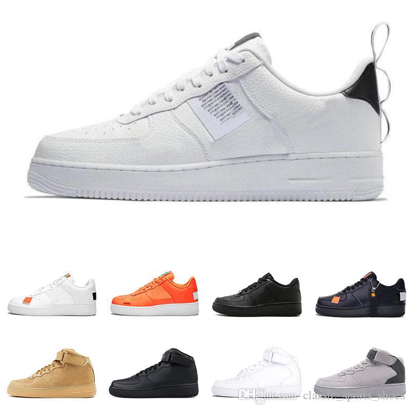 264c1e61f4f3 Nike Air Force 1 AF1 just do it deportivas para hombre mujer dunk utilidad  Baja Alta Blanco negro Lino naranja rojo para hombre Zapatillas de skate ...