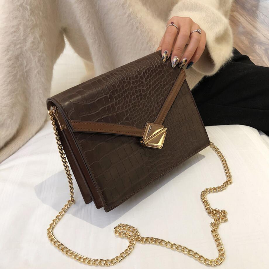 Handbag 2019 Fashion New Quality Pu Leather Women's Designer Handbag Crocodile Pattern Chain Shoulder Messenger Bag