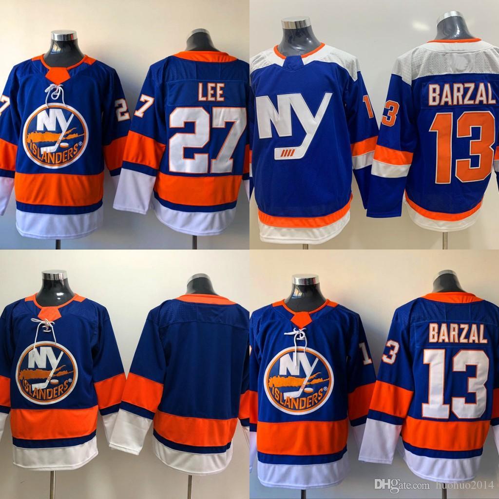 best loved e4819 d5694 13 Mathew Barzal Jersey New York Islanders 27 Anders Lee Anders Lee Blue  Hockey Jerseys