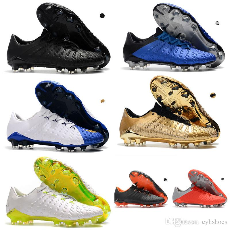 online store 3b5cd 6332d Low Ankle Mercurial Hypervenom Phantom III DF FG Soccer Shoes Men ACC  Outdoor football boot Cristiano Ronaldo CR7 superfly Soccer Cleats