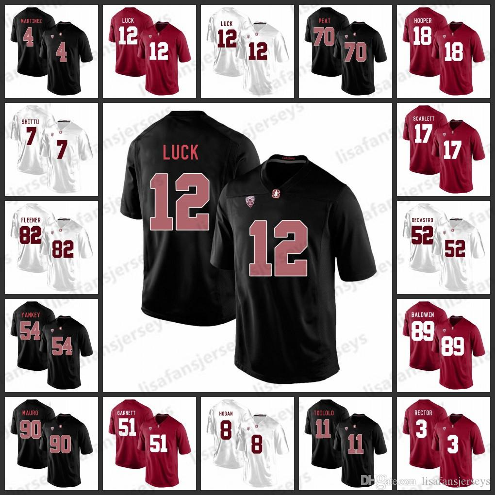 new arrival 4011f a84ae Custom Stanford Cardinals Jerseys 20 Love 5 Christian McCaffrey 12 Andrew  Luck 7 John Elway Custom College Football Jersey