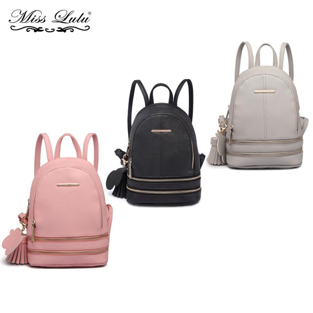 72970a58598669 Miss Lulu Women Small Mini Backpacks Designer Fashion Shoulder Bags Girls  Leather School Bags Rucksack Daypack LT1705 Kelty Backpack Camo Backpack  From ...