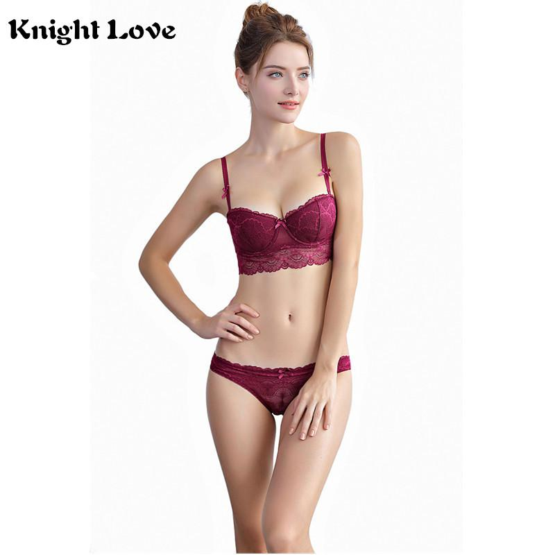 c891a0fa4de0 2019 Women Sexy Floral Bra Set Lace Female Lingerie Set Underwear Ultra  Thin Transparent Push Up Bra And Panty Set Cup A B C D From  Hongxuanstore002, ...