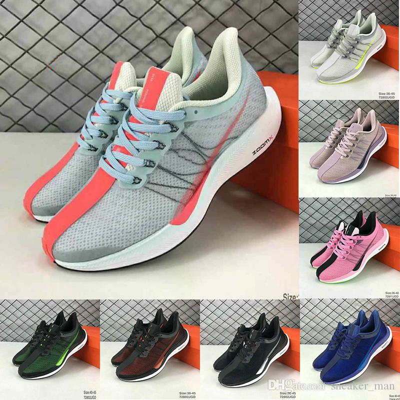 180f0570fb12 2019 Zoom Pegasus Turbo Running Trainers Sports Sneakers Grey Red White  Black Blue Mens Women Breathable Lightweight Jogging Shoes Eur 36 45 From  ...