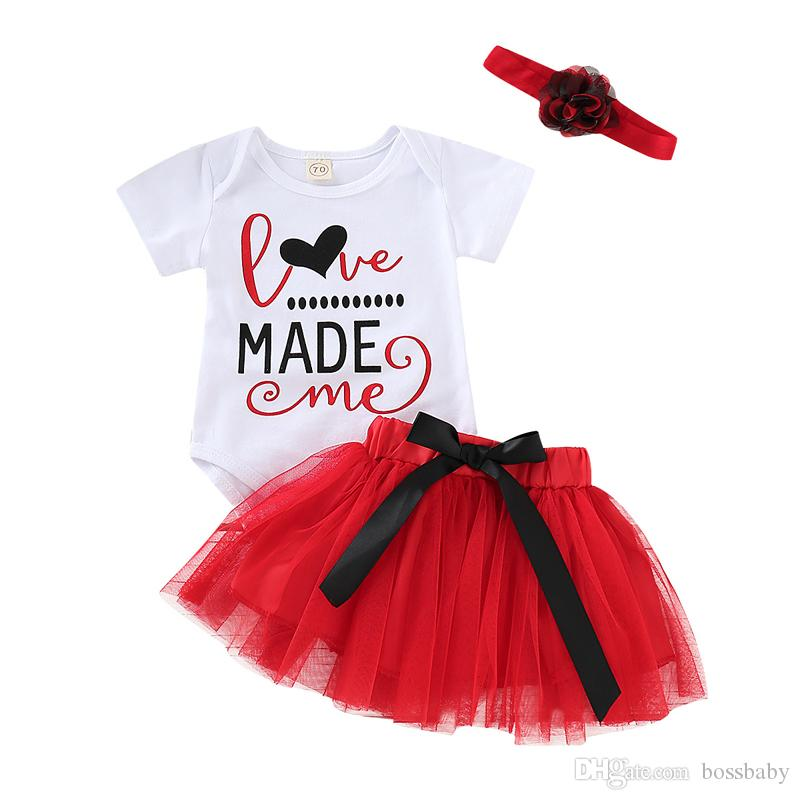 Baby Dress Rompers Suits Kids Clothes Long Sleeve Letter Onesies Red Mesh Short Dress Lace Shorts Jumpsuit 43