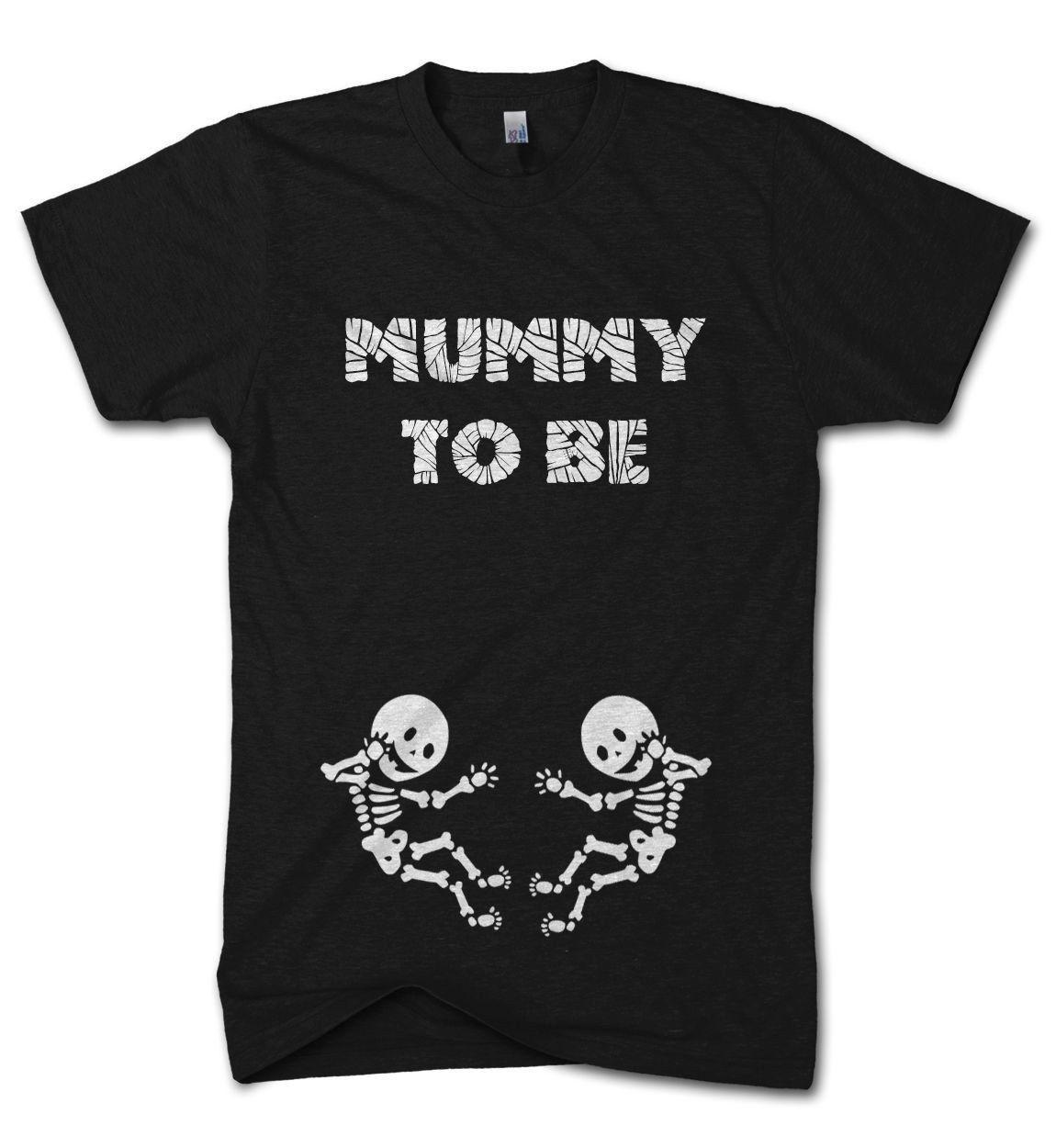 885e9d1b Halloween Mummy To Be Twins T Shirt Skeleton Baby Scary Funny Pregnant  Costume 2018 New Short Sleeve Men T Shirt 100% Cotton Family Top Online T  Shirts Buy ...