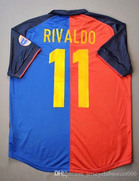4c626405a 1899 1999 Classic Soccer Jerseys Centennial Shirts PUYOL LUIS ENRIQUE XAVI  RIVALDO Football Shirts Top Quality Soccer Clothing UK 2019 From ...