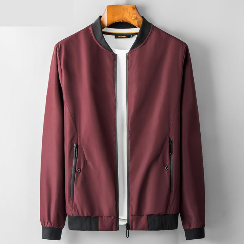 f488bdcaa85 2019 New Arrival Autumn Spring Men Jacket Thin Youth Handsome Trend Casual  Mandarin Collar Loose Plus Size M L XL 2XL 3XL 4XL Clothing Jackets Mens  Jackets ...