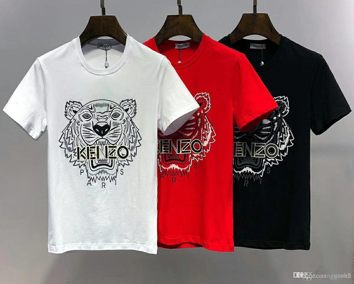 4c7415fc 18ss Feitong New Arrivals 2019 Men's Painted King Design T Shirt Cool  Summer Tiger Printed Tops High Quality Tee 4xl wholesale