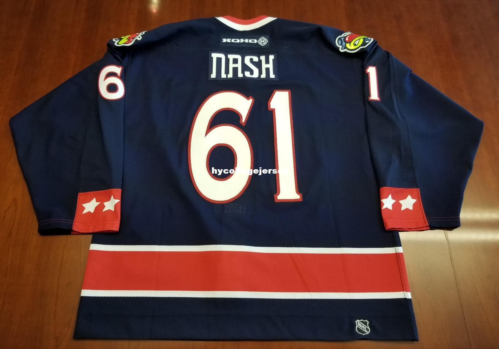 info for 067cb 50acc Wholesale Custom Rick Nash Columbus Blue Jackets Vintage Koho Cheap Hockey  Jersey Pro Mens Retro Jerseys