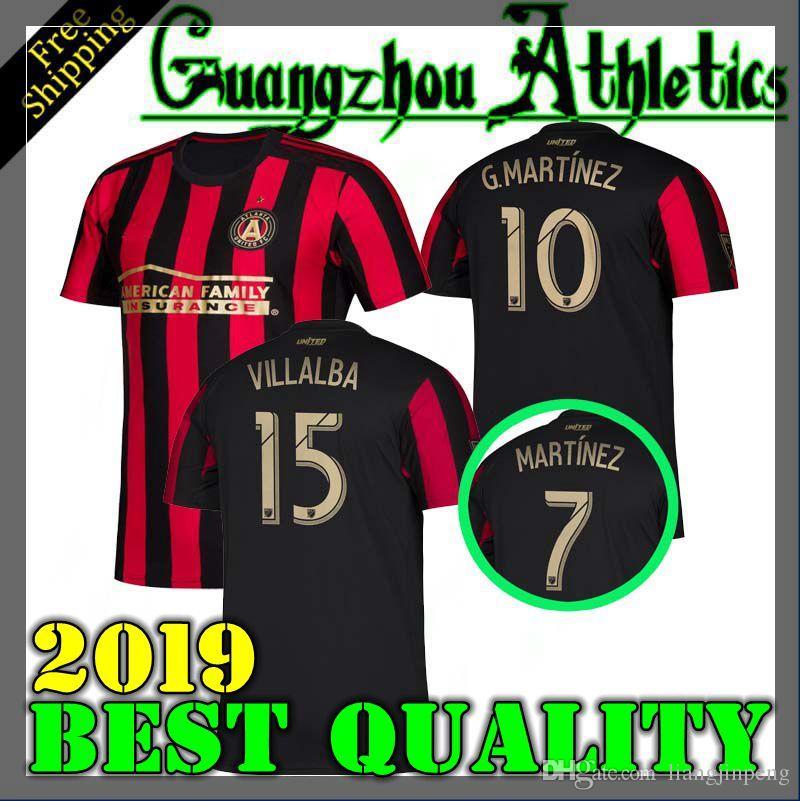 5c07ec64e59 2019 2020 MLS Men s Atlanta United FC soccer Jerseys 19 20 VILLALBA G.MARTINEZ  Football Shirts 19 20 MLS soccer Jerseys Men s T-Shirts