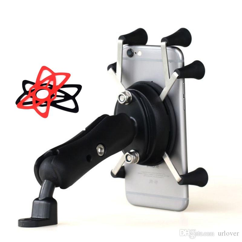 Universal Adjustable Lazy Cell Phone Holder Motorcycle Rear View Mirror Mount Support for Huawei P30 pro GPS Moto Stand