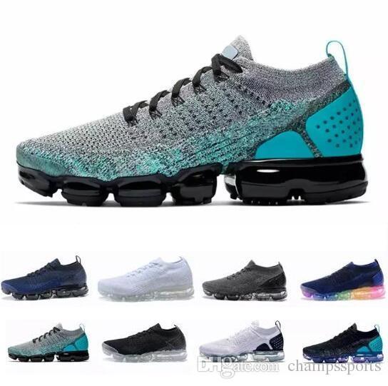 official photos a9a04 f494d Acheter Designer 2 Cushion Mens Trainers Shoes 2019 2.0 Nouveaux Hommes  Femmes Gris Rose Bleu Cs Bsreathe Knit Sneakers V2 Sport Chaussures De  Course De ...