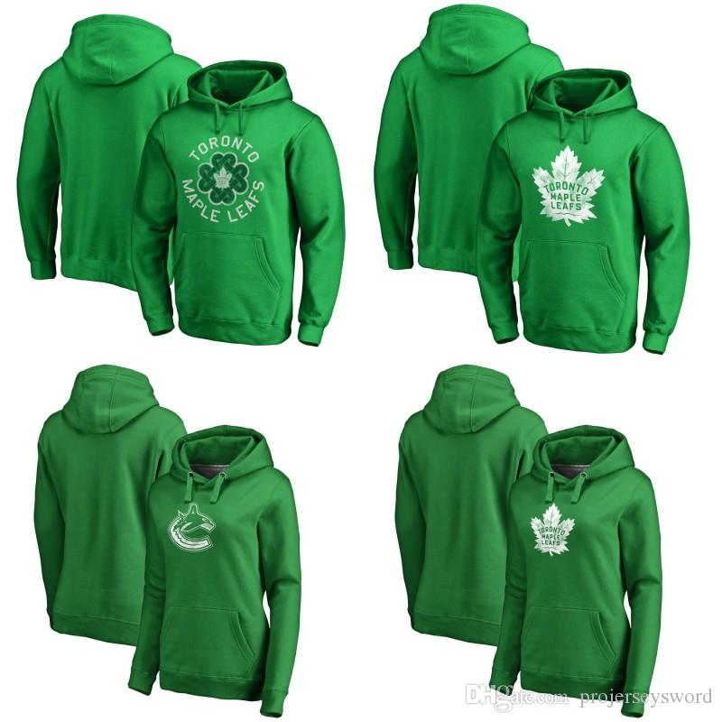 size 40 d76e0 01713 Toronto Maple Leafs Green St. Patrick s Day Luck Tradition Pullover Hoodie  8 Jake Muzzin 31 Frederik Andersen 91 John Tavares Hockey Jerseys