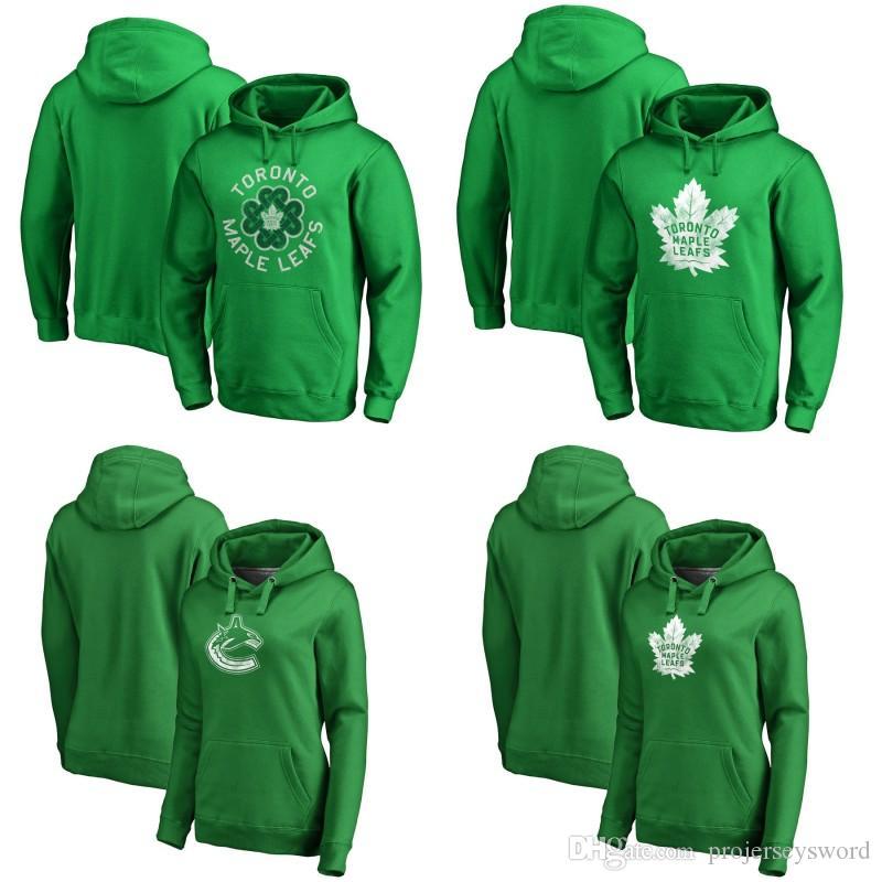 size 40 a11f7 ad78c Toronto Maple Leafs Green St. Patrick s Day Luck Tradition Pullover Hoodie  8 Jake Muzzin 31 Frederik Andersen 91 John Tavares Hockey Jerseys
