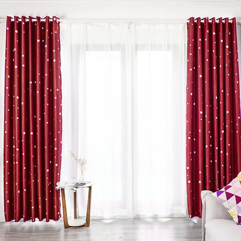 DHgate.com & Elegant Snowflake Window Curtains Living Room Bedroom Decorative Blackout Curtain Drape French Window Blinds Valance BS