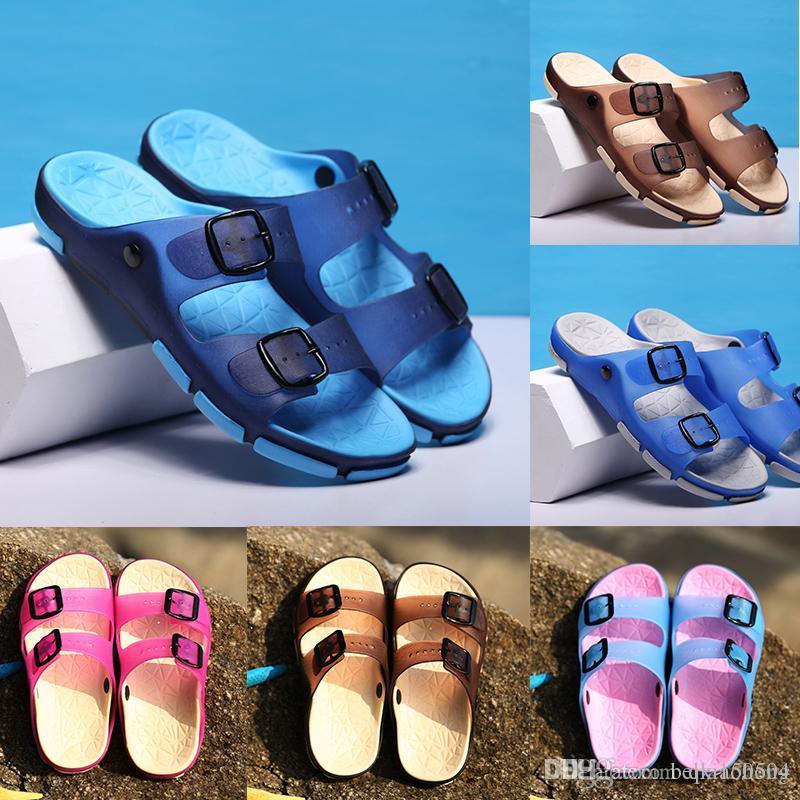 Sandalias De Negro Venta Mujeres Deslizante Diseñador Caucho Planas Rosa Casuales 2019 Caliente Corcho Zapatos Zapatillas Verano Sandalia Hombres 3LqAj5c4R