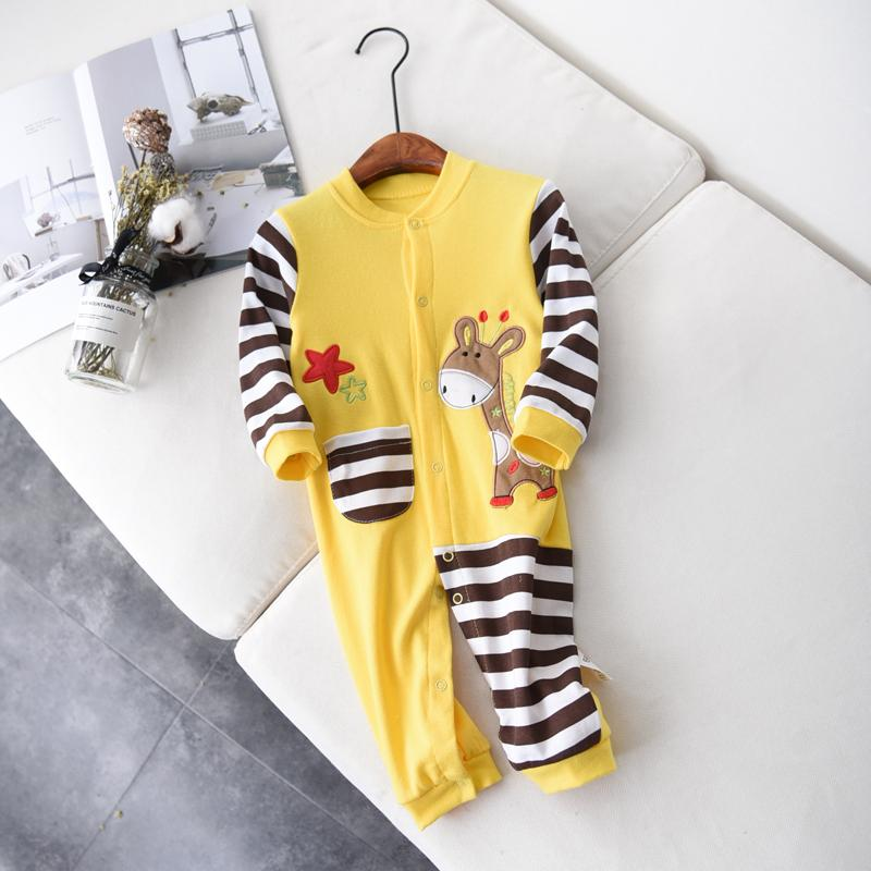 Christmas Spring Autumn Baby Clothing Newborn Soft Striped Rompers 0-24m Infant Jumpsuit Baby Cartoon Costumes Pajamas