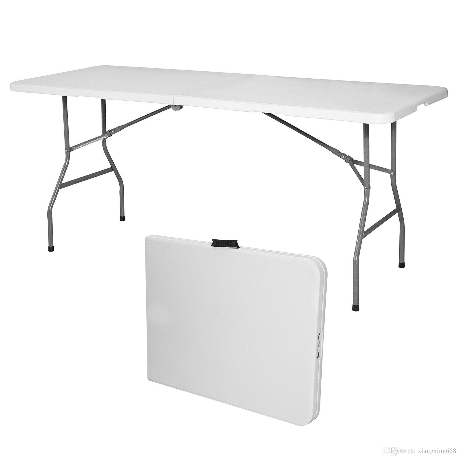 6u0027 Portable Folding Folding Table Indoor Outdoor Camp Party Picnic Plastic