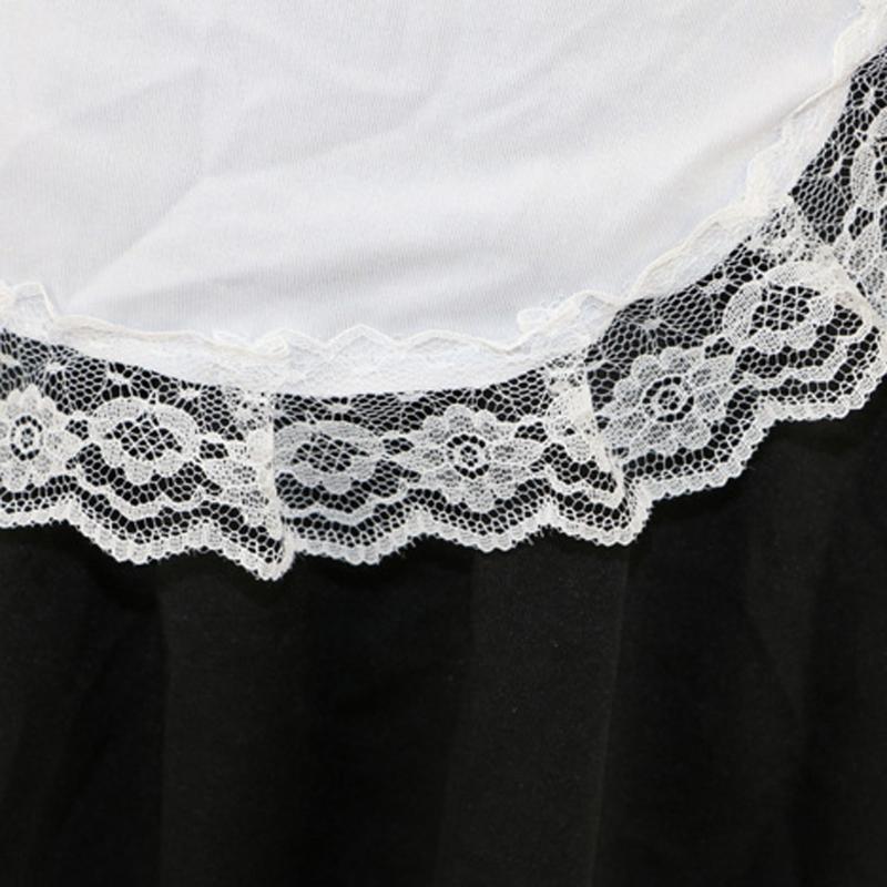 KLV Cameriera Uniforme Costumi Cosplay Hot Lingerie Sexy Del Merletto Chemise Lingerie Erotica novità Abito Esotico Set Nuovo