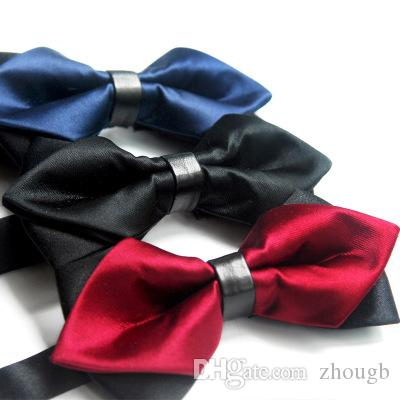 655e296eb73f Mens Bowtie Bow Ties Pre-tied Adjustable Solid Red Microfiber Silk ...