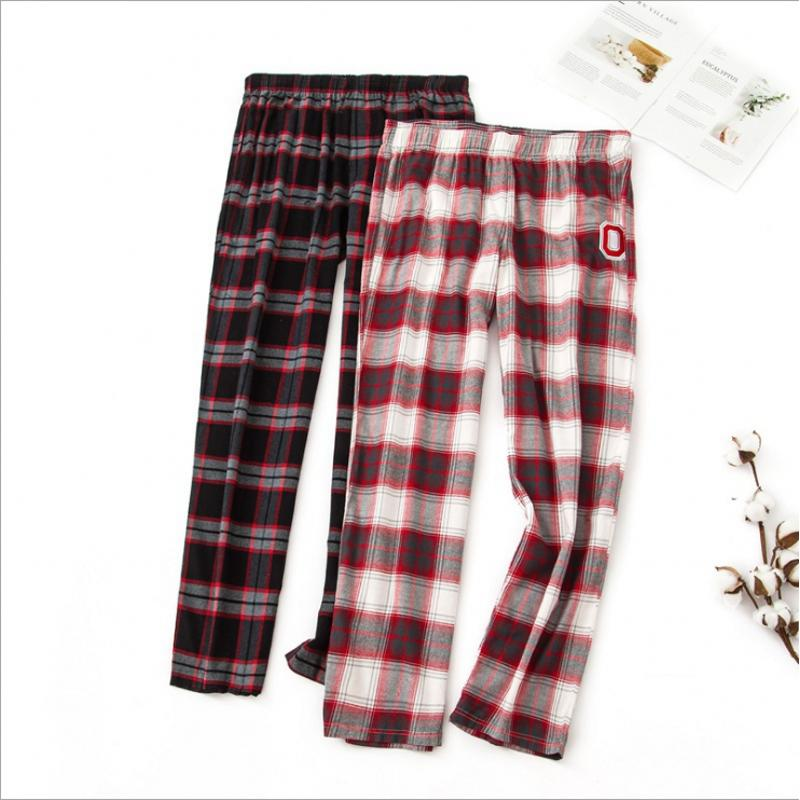 2019 2019 Spring Autumn Women Cotton Sleep Bottoms Female Loose Plus Size  Nighty Trousers Sleepwear Pyjama Ladies Plaid Pajama Pants From Workwell 94dadea72