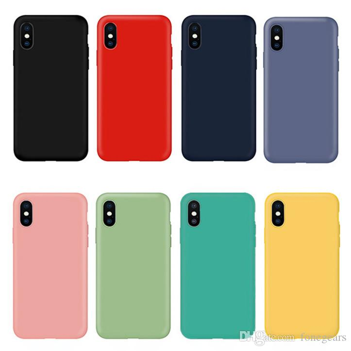 Ultra Slim Lightweight Casos de Silicone Líquido TPU Snap-on Bumper Covers Full Body Proteção Microfibra Forro para iPhone e Samsung Galaxy