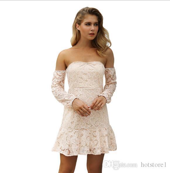buy popular 9df87 ca3e9 Nuovo vestito di pizzo vestito halter sexy europea e americana modelli di  esplosione delle donne moda popolare vestito da partito Europa e America