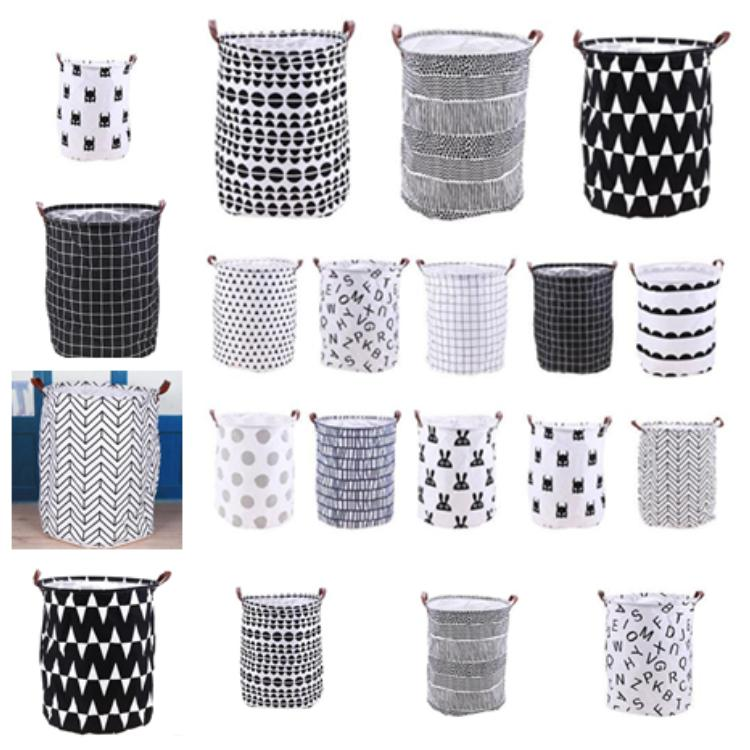 Household folding laundry basket cartoon storage bucket standing toy clothing storage bucket toy storage basket T2I5139