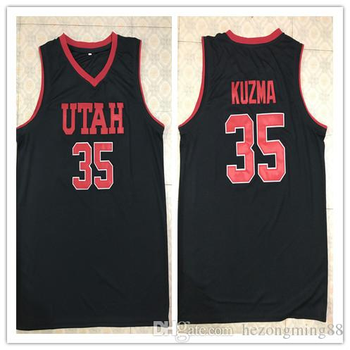 94cb7484b7d  35 Kyle Kuzma Utah College Men s Embroidery Stitched Basketball Jersey  Custom any name and number