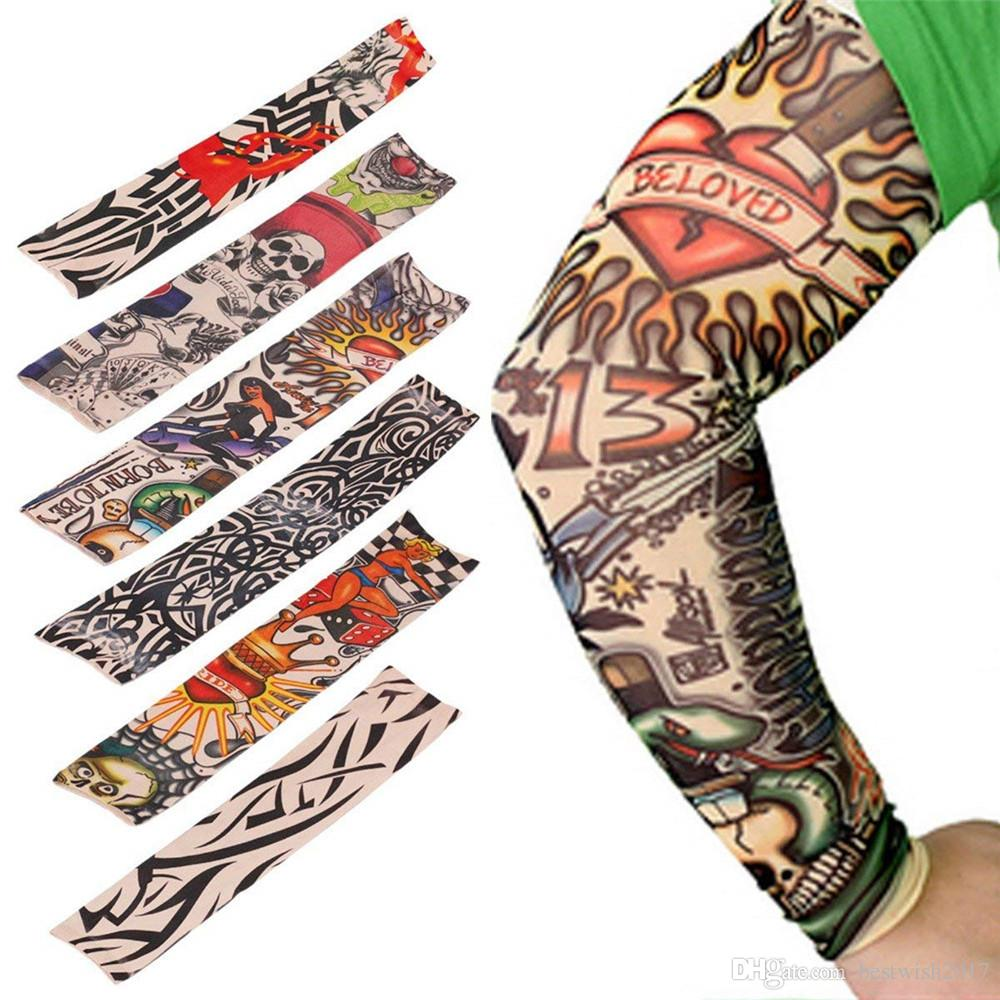 d5c43d9a0 Temporary Fake Slip On Tattoo Arm Sleeves Stockings, Temporary Tattoo Arm  Sunscreen Sleeves, Designs Skull, Tiger, Crown Heart, Tribal Beautiful  Clothes For ...