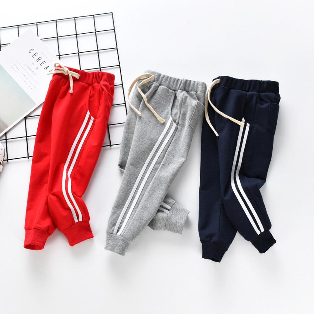 79c417b88961 Good Quality Toddler Kids Trousers Baby Girl Boy Striped Trousers Pants  Loose Sport Slacks Clothes Pantalon Garcon Vetement Fille Boys Red Pants  Ski Pants ...