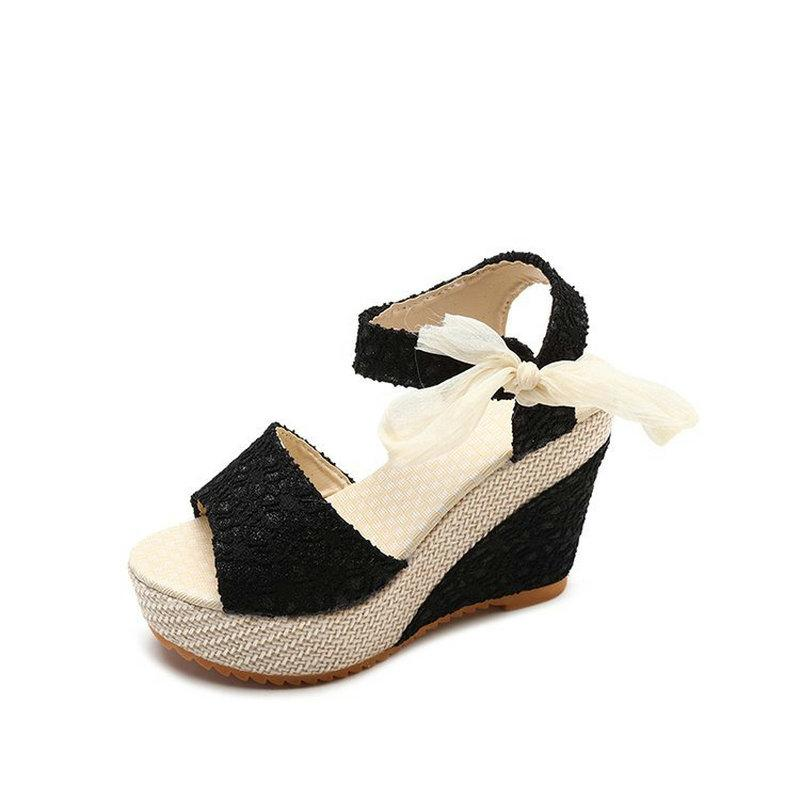 92f1017d9 New Arrival Ladies Shoes Women Sandals Summer Open Toe Fish Head Fashion  Platform High Heels Wedge Sandals Female Shoes Women Bamboo Shoes High  Heels Shoes ...