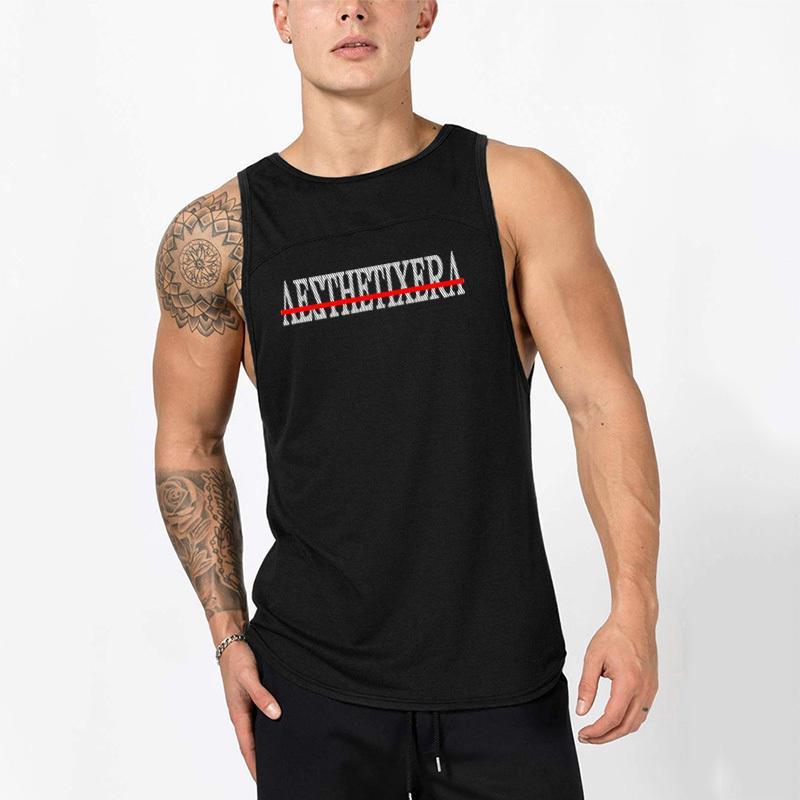 big sale 59ae6 e1f4d Muscleguys Mode Baumwolle Ärmellose Shirts Tank Top Männer Fitness Shirt  Herren Singlet Bodybuilding Workout Gym Weste Fitness Männer