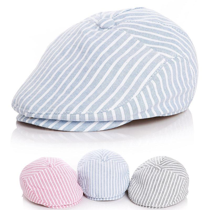 4962656f2ad6d Children Stripe Classic Style Fashion Cap Toddler Summer Baby Hat Boy Caps  For Child Girl Berets Kids Hats C19041302 From Tong06