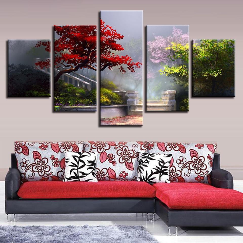 2019 pictures artwork frame hd prints flowers grass trees garden rh dhgate com