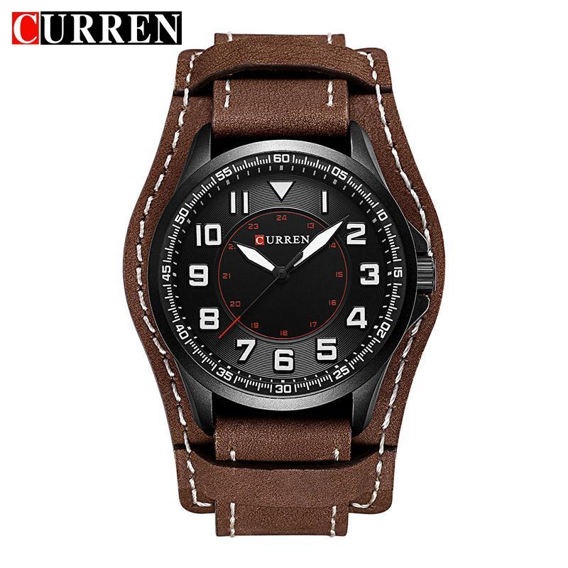 d54f3be59889 Compre Relojes De Cuarzo Para Hombre Marca 2018 CURREN Reloj De Pulsera  Hombres De Lujo Analógicos Digitales De Cuero Relojes Deportivos Reloj  Masculino A ...