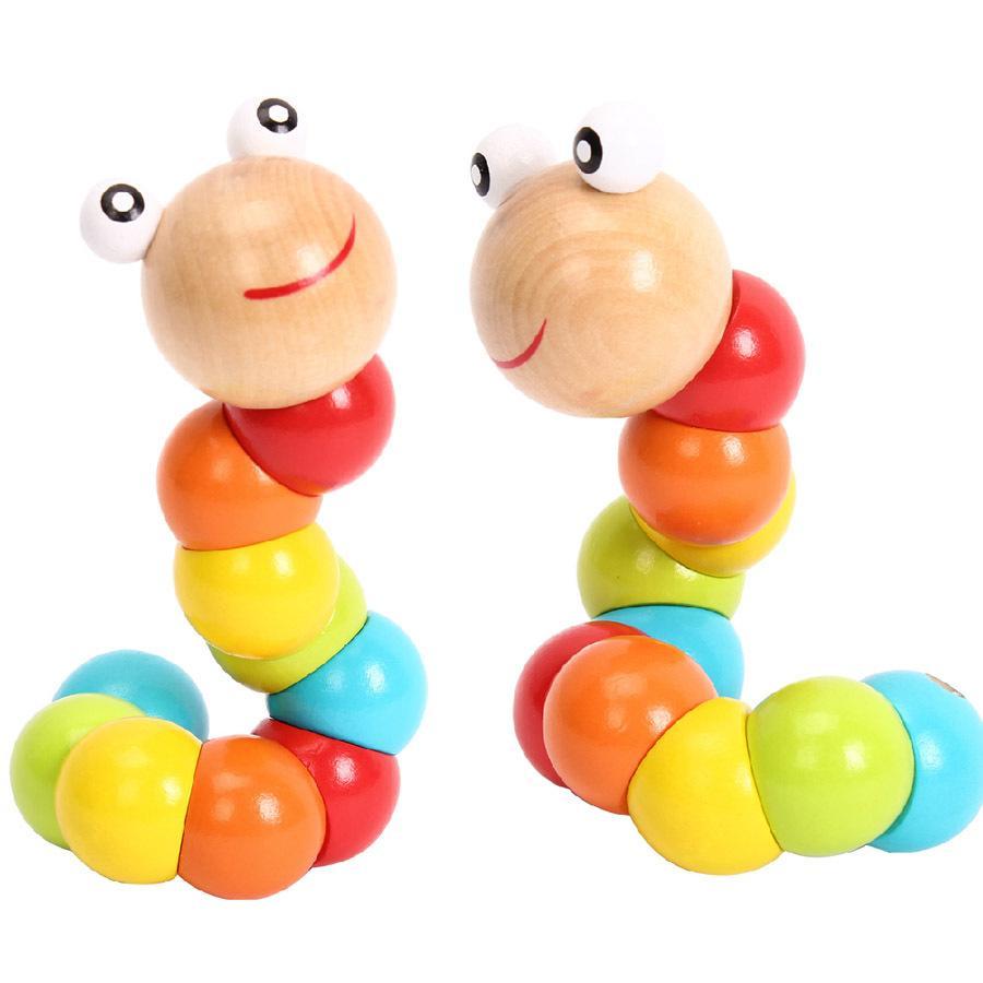 Fabricantes Caterpillar Mayor Juguete Al Color Por Bloques Twister De Madera Variedad Simulación Rompecabezas Construcción Modelo N8ynvwOPm0
